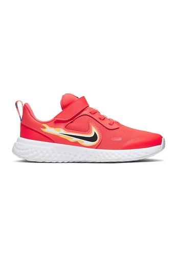 Será Permanentemente Adaptabilidad  Shop NIKE NIKE Revolution 5 Fire(PS) Kids Running Shoes for 1,080.00 THB  Online | SUPERSPORTS